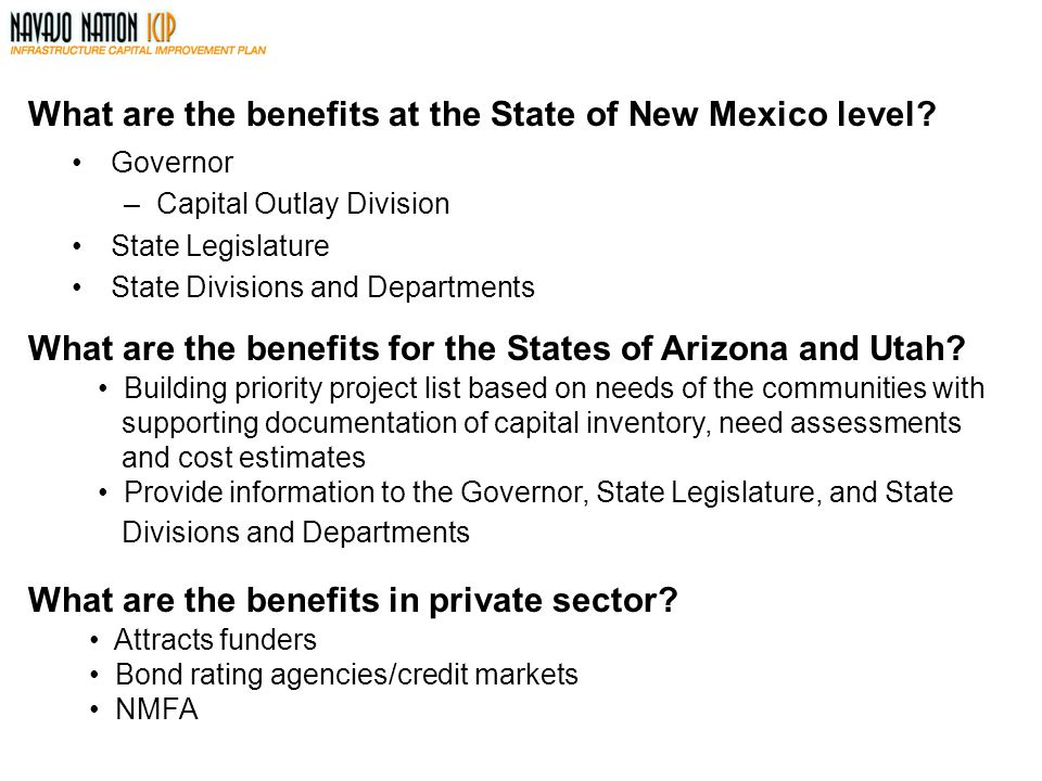 What are the benefits at the State of New Mexico level