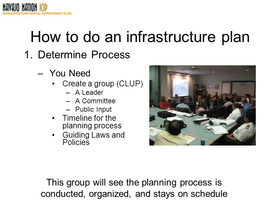 How to do an infrastructure plan