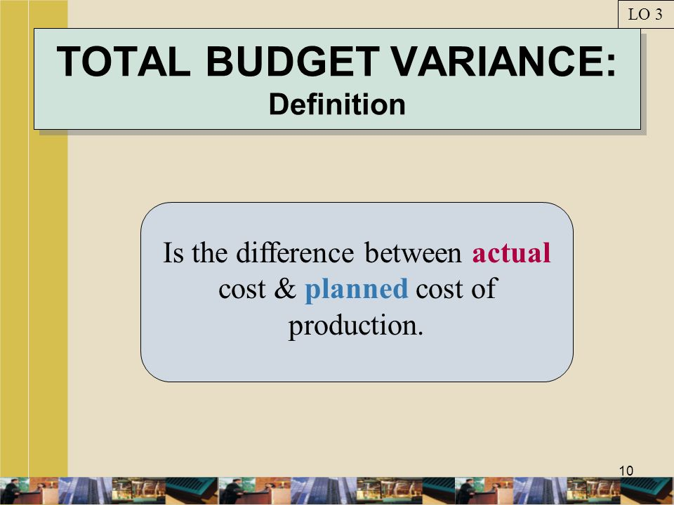 TOTAL BUDGET VARIANCE: Definition