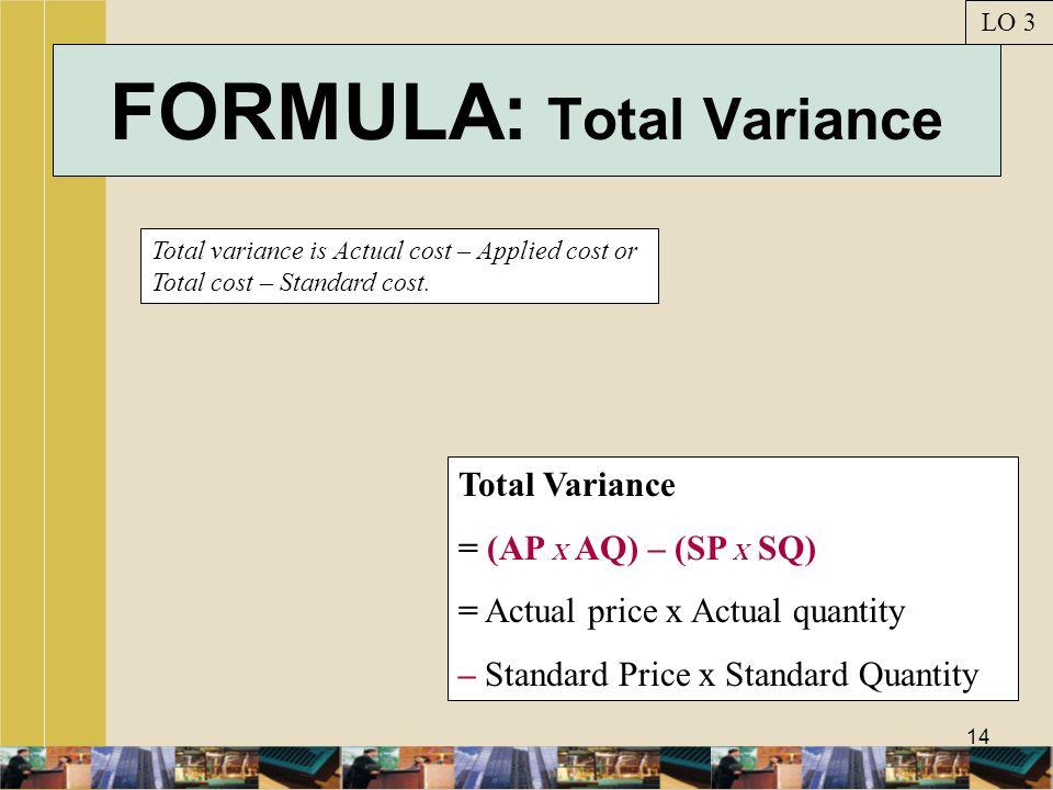 FORMULA: Total Variance