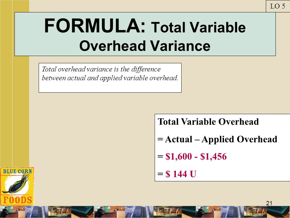 FORMULA: Total Variable Overhead Variance