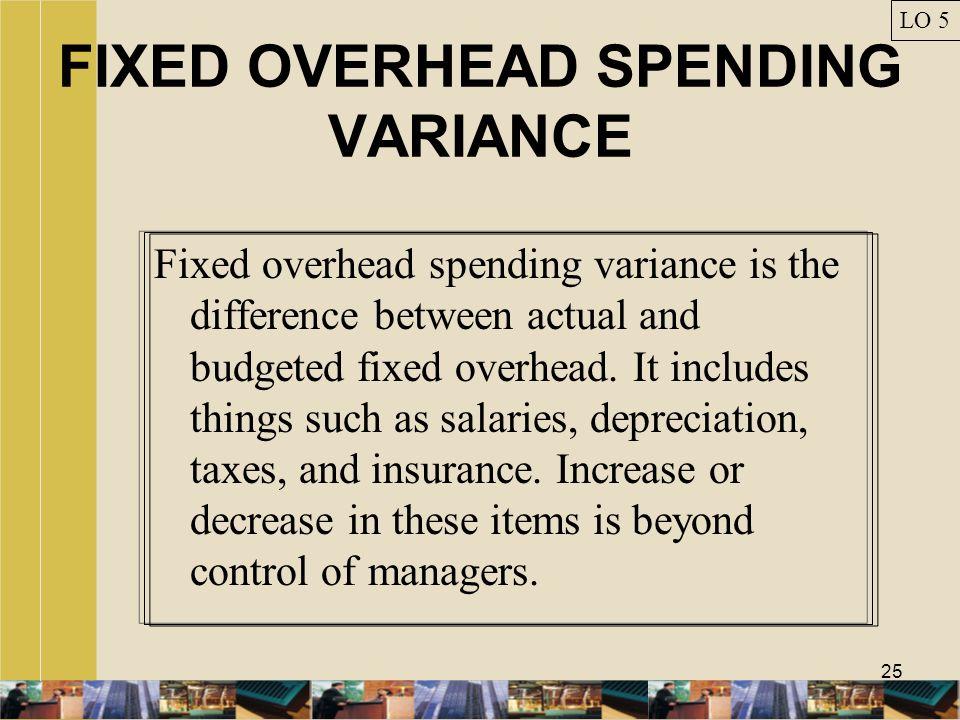 FIXED OVERHEAD SPENDING VARIANCE