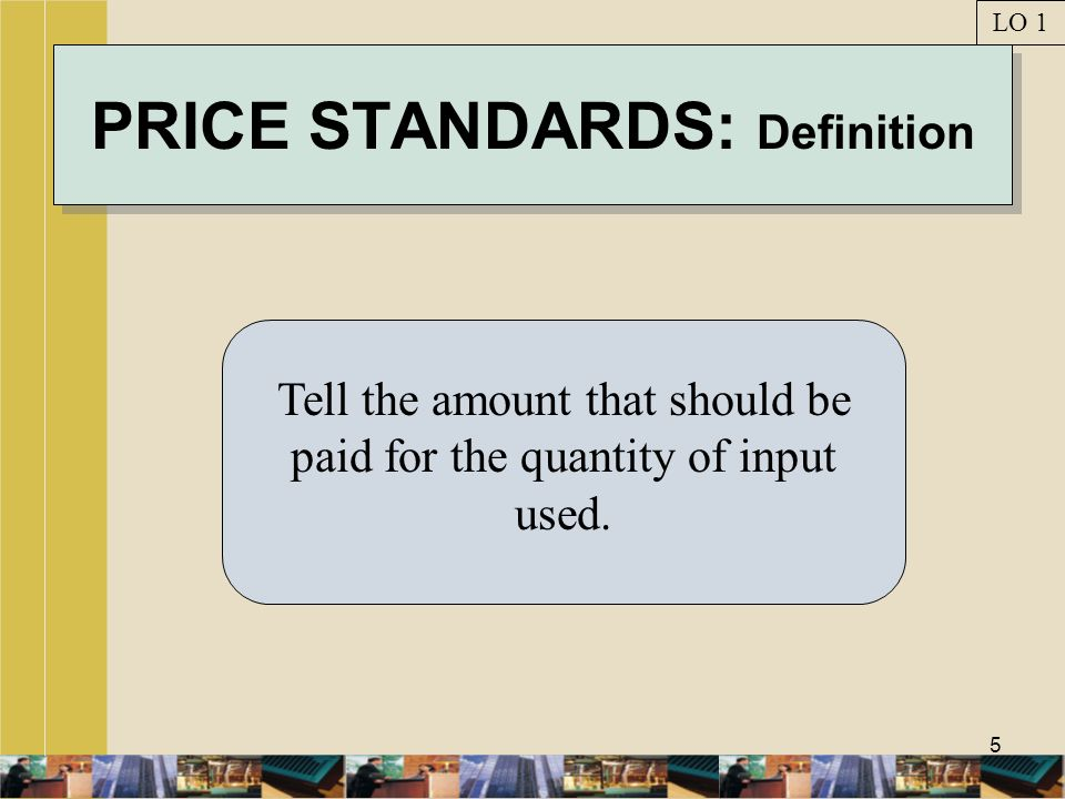 PRICE STANDARDS: Definition