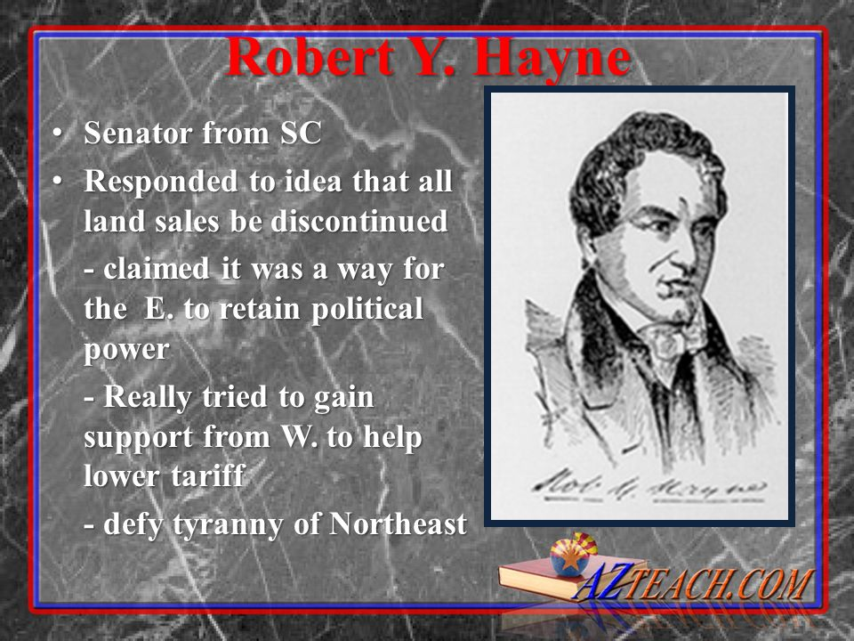 Robert Y. Hayne Senator from SC