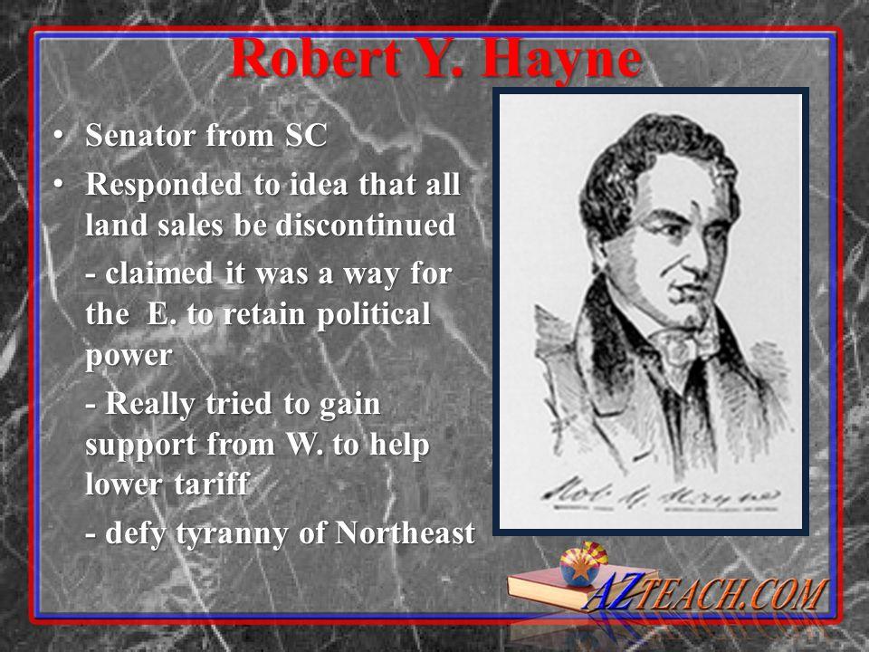 Robert Y. Hayne Senator from SC
