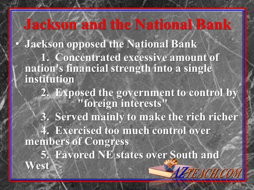 Jackson and the National Bank