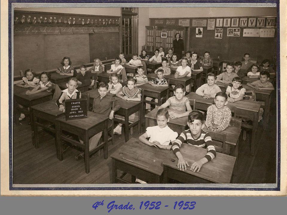 4th Grade, 1952 - 1953