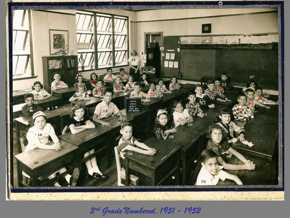 3rd Grade Numbered, 1951 - 1952