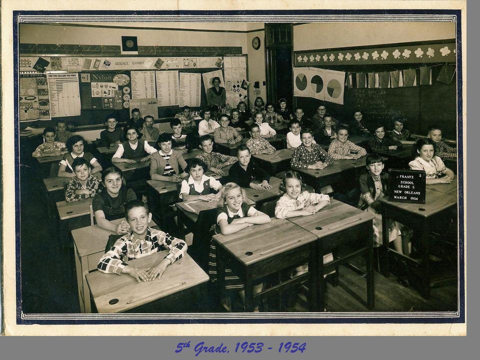 5th Grade, 1953 - 1954