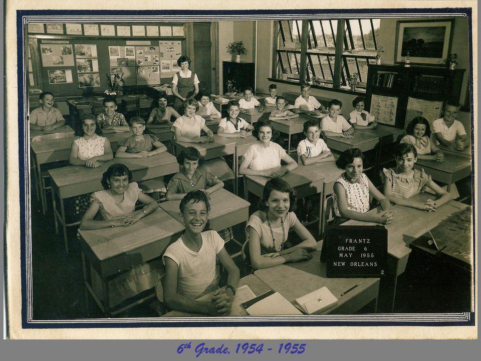 6th Grade, 1954 - 1955