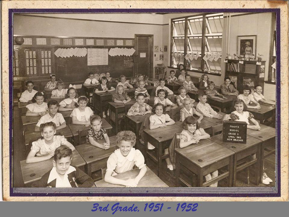 3rd Grade, 1951 - 1952