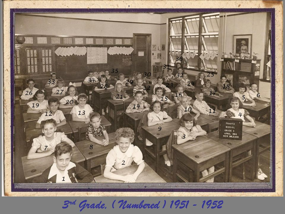 3rd Grade, ( Numbered ) 1951 - 1952