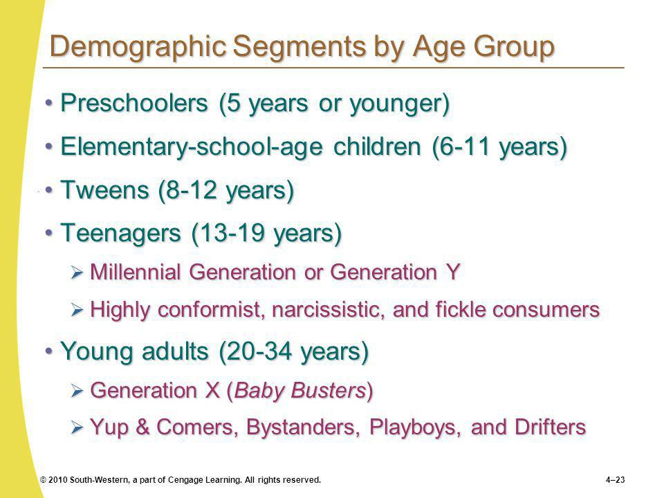 Demographic Segments by Age Group