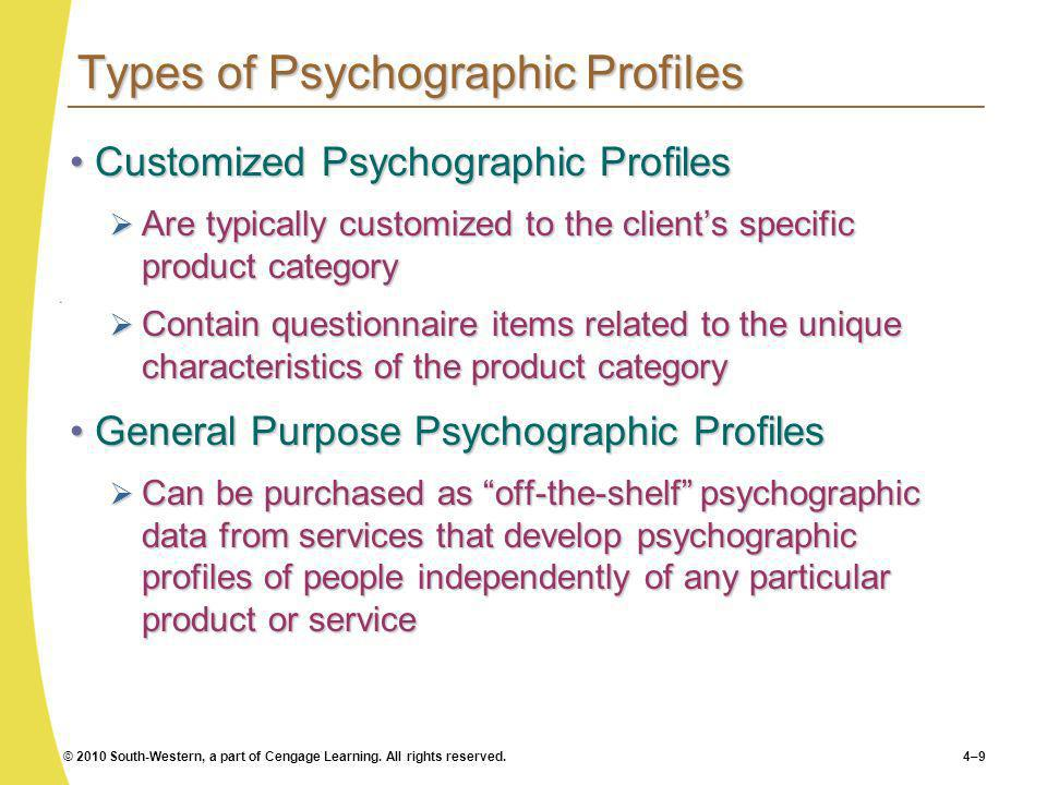 Types of Psychographic Profiles