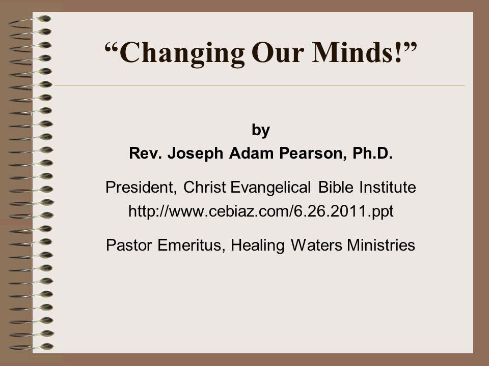 Rev. Joseph Adam Pearson, Ph.D.