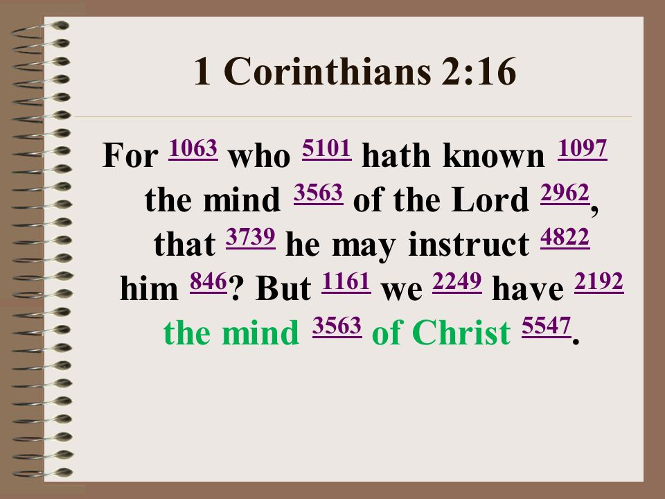 1 Corinthians 2:16