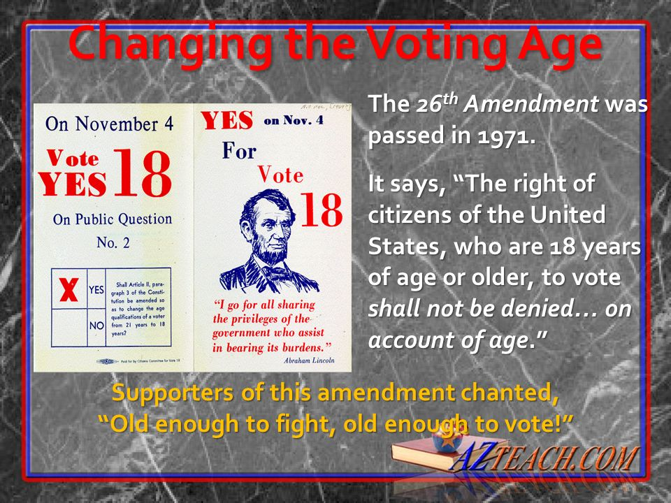 Changing the Voting Age