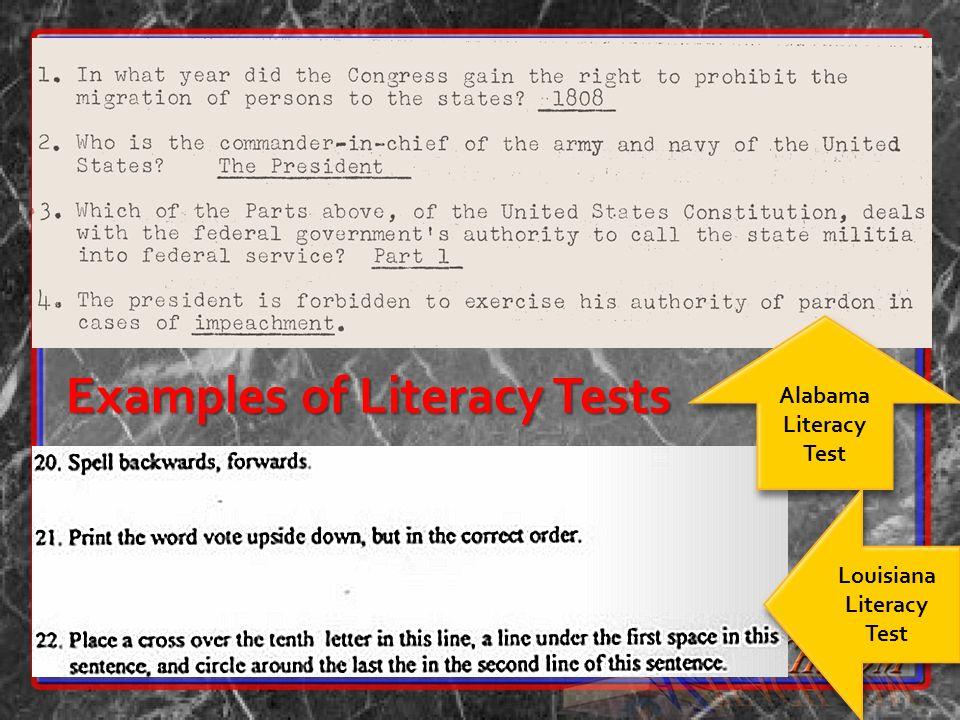 Louisiana Literacy Test