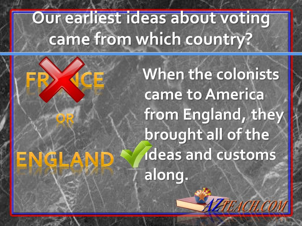 Our earliest ideas about voting came from which country
