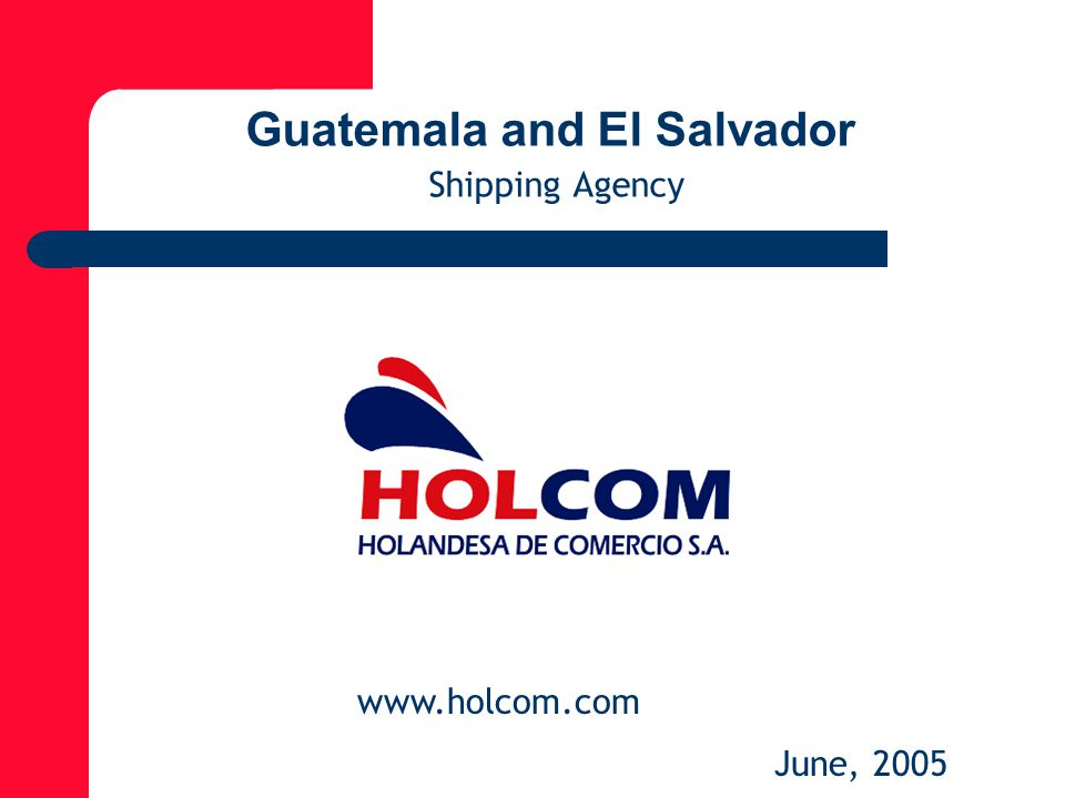 Guatemala and El Salvador Shipping Agency