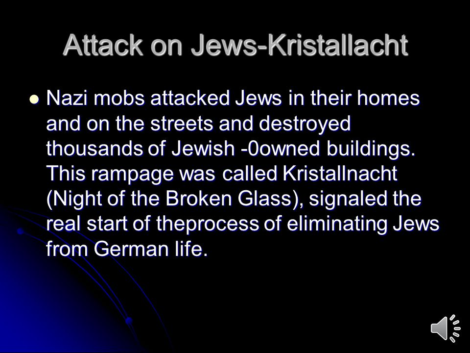 Attack on Jews-Kristallacht