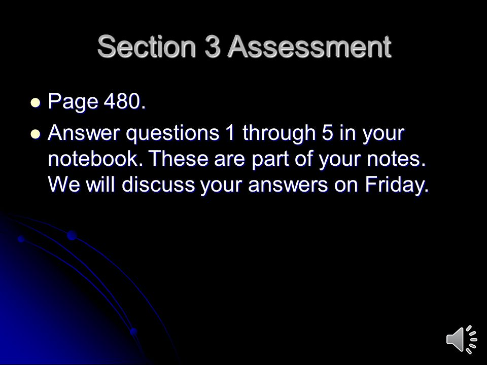 Section 3 Assessment Page 480.