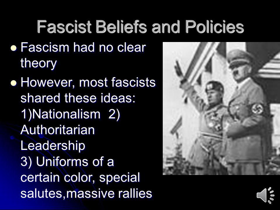 Fascist Beliefs and Policies