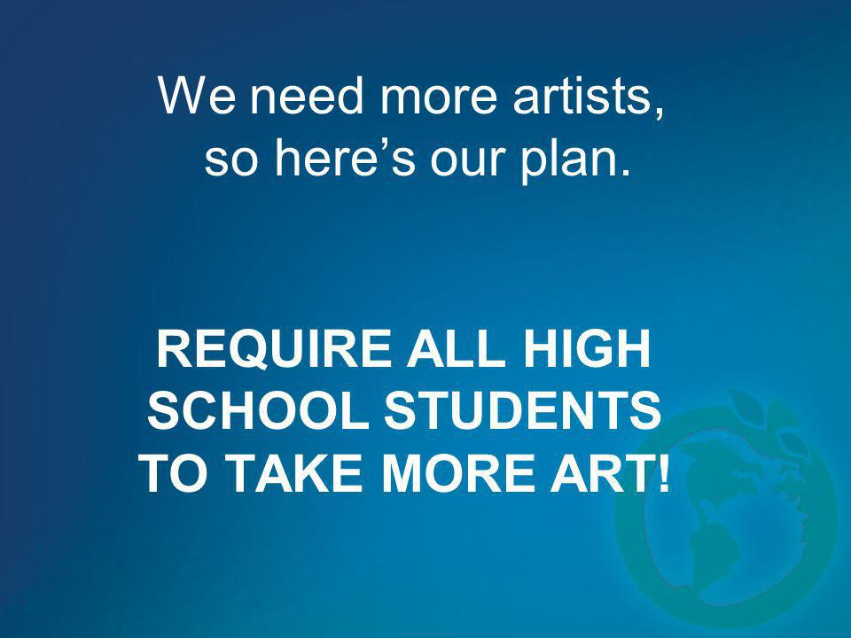 We need more artists, so here's our plan.
