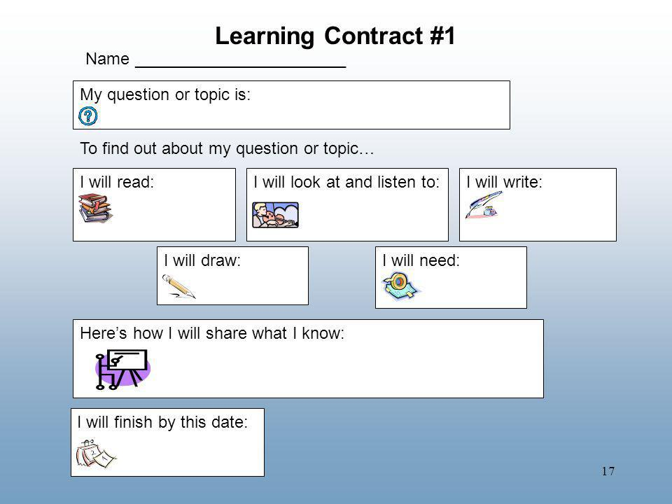 Learning Contract #1 Name _______________________