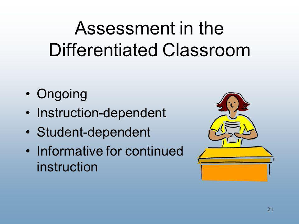 Assessment in the Differentiated Classroom