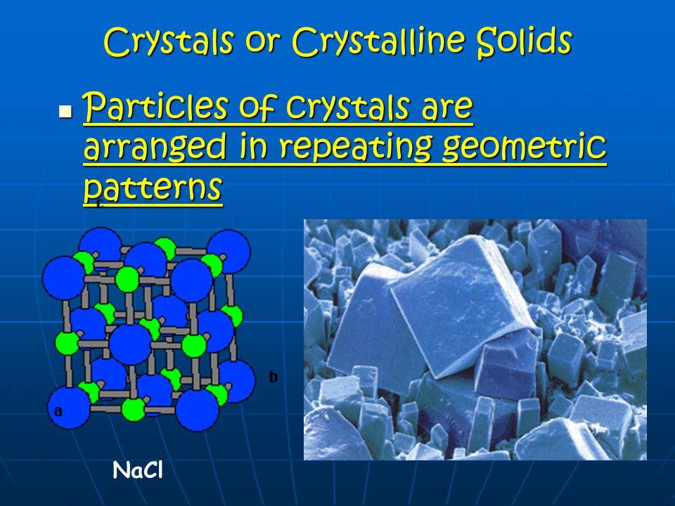 Crystals or Crystalline Solids
