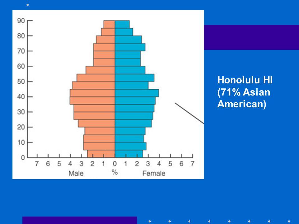 Honolulu HI (71% Asian American)