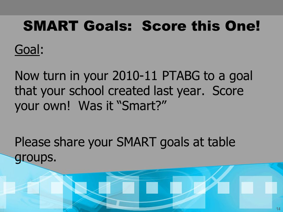 SMART Goals: Score this One!