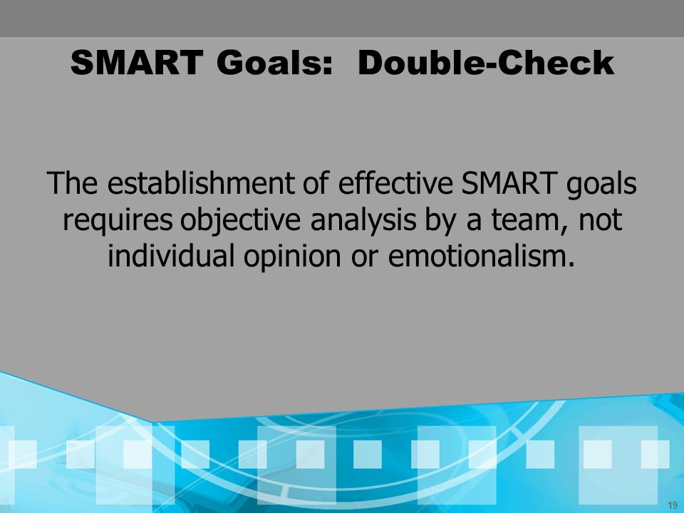 SMART Goals: Double-Check