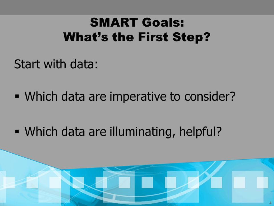 SMART Goals: What's the First Step