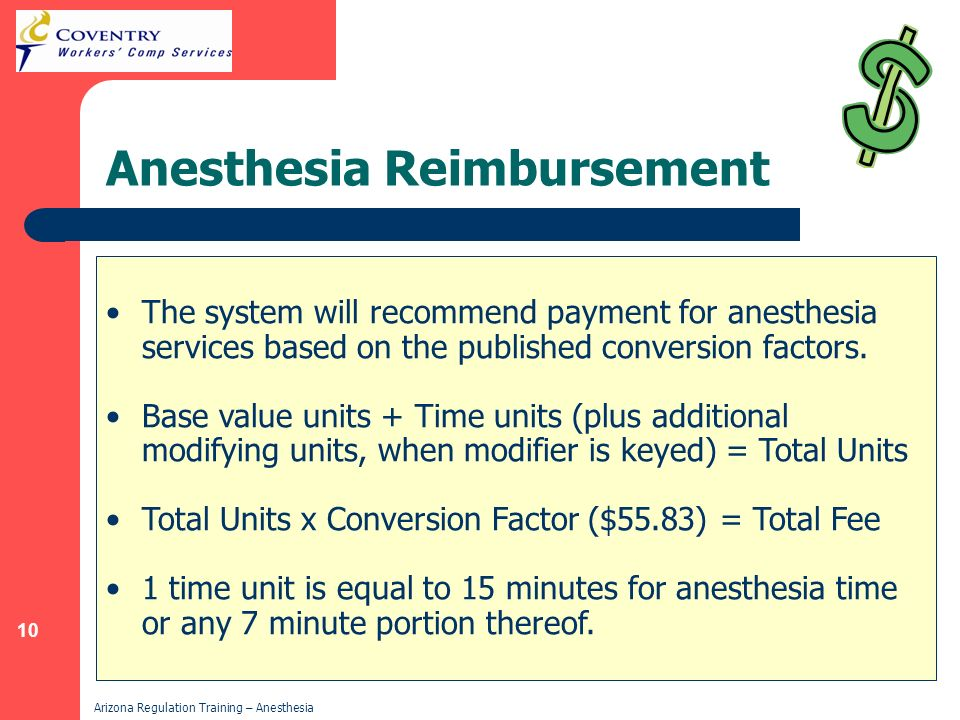 Anesthesia Reimbursement