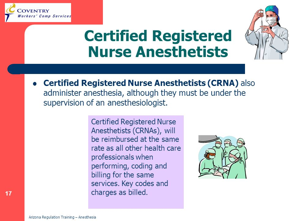 Certified Registered Nurse Anesthetists