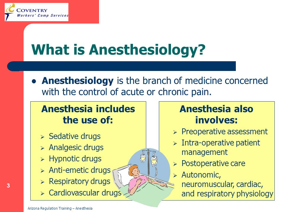 What is Anesthesiology