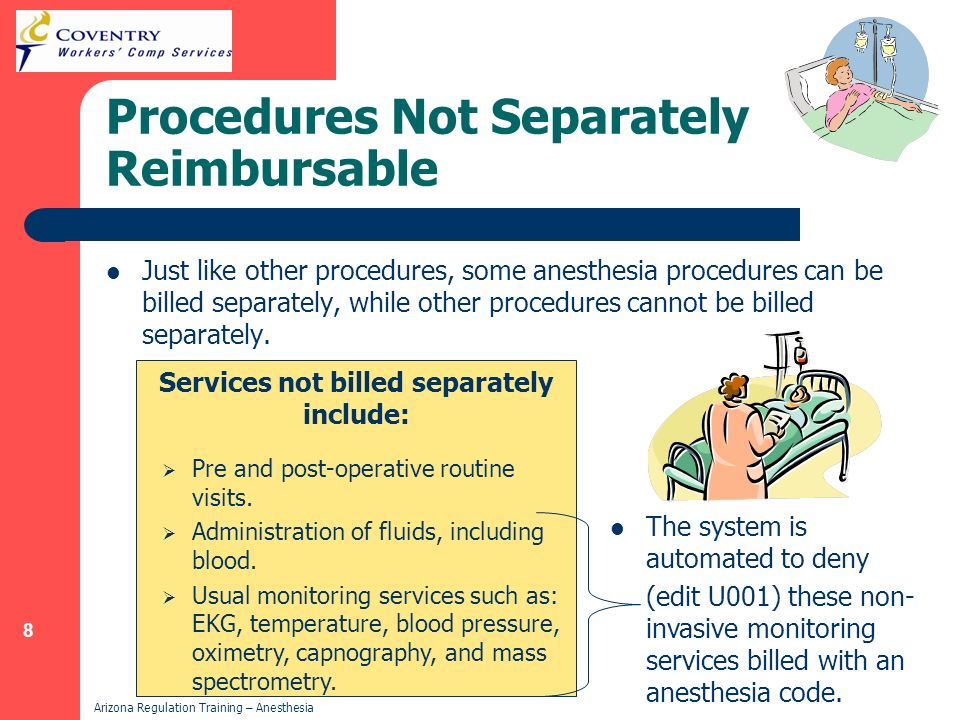Procedures Not Separately Reimbursable