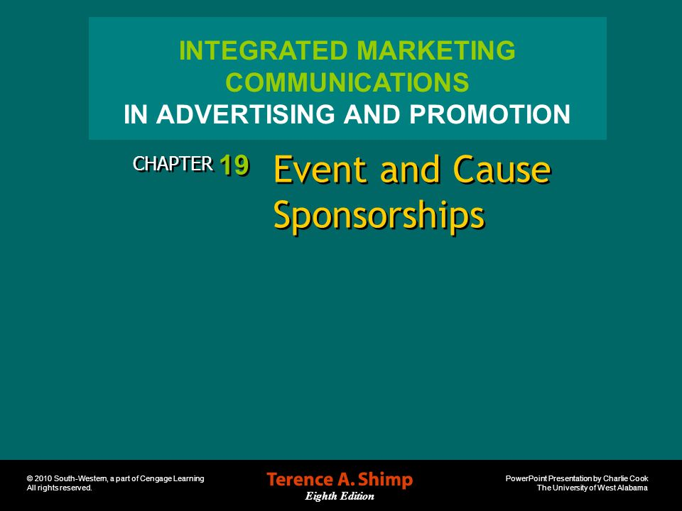 Event and Cause Sponsorships
