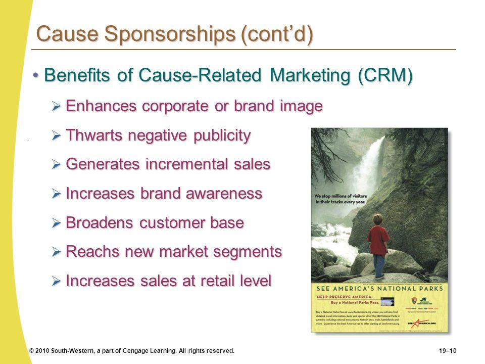 Cause Sponsorships (cont'd)