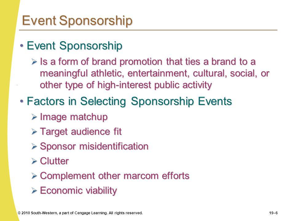 Event Sponsorship Event Sponsorship