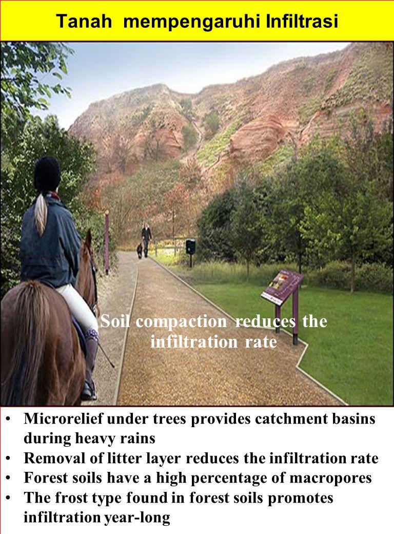 Tanah mempengaruhi Infiltrasi