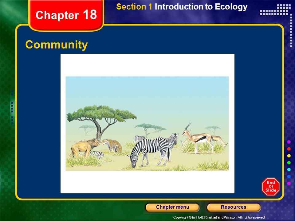 Section 1 Introduction to Ecology