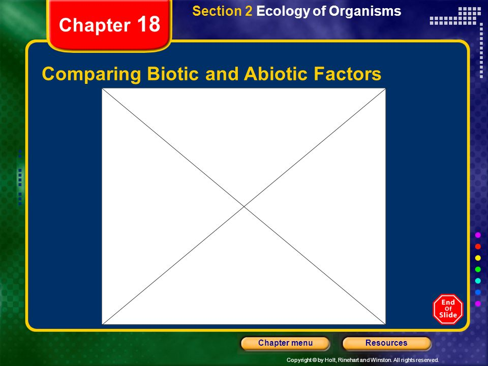 Comparing Biotic and Abiotic Factors