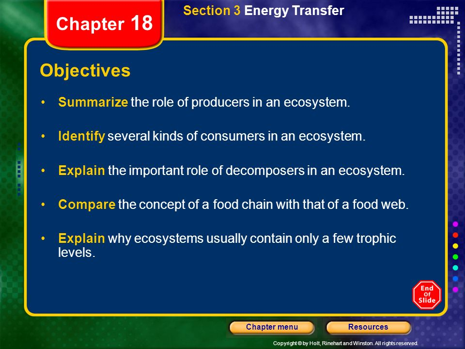 Chapter 18 Objectives Section 3 Energy Transfer