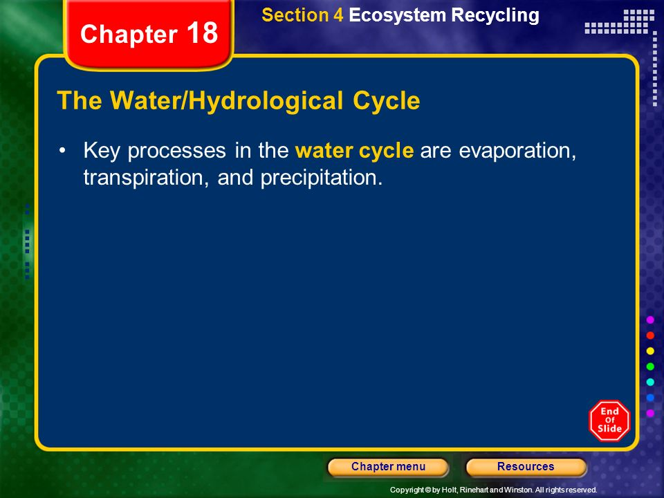 The Water/Hydrological Cycle