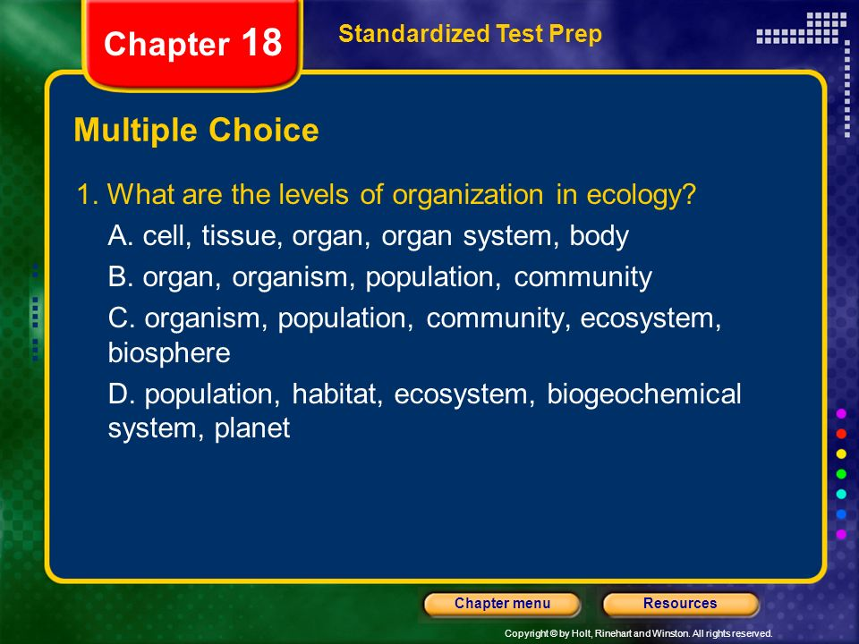Chapter 18 Multiple Choice