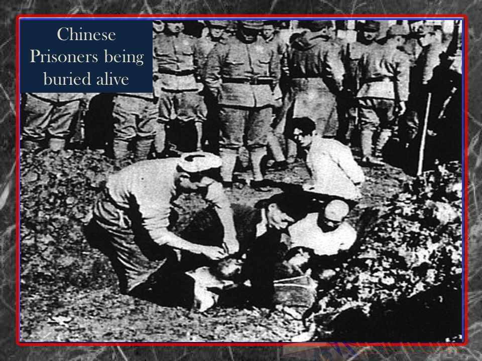 Chinese Prisoners being buried alive