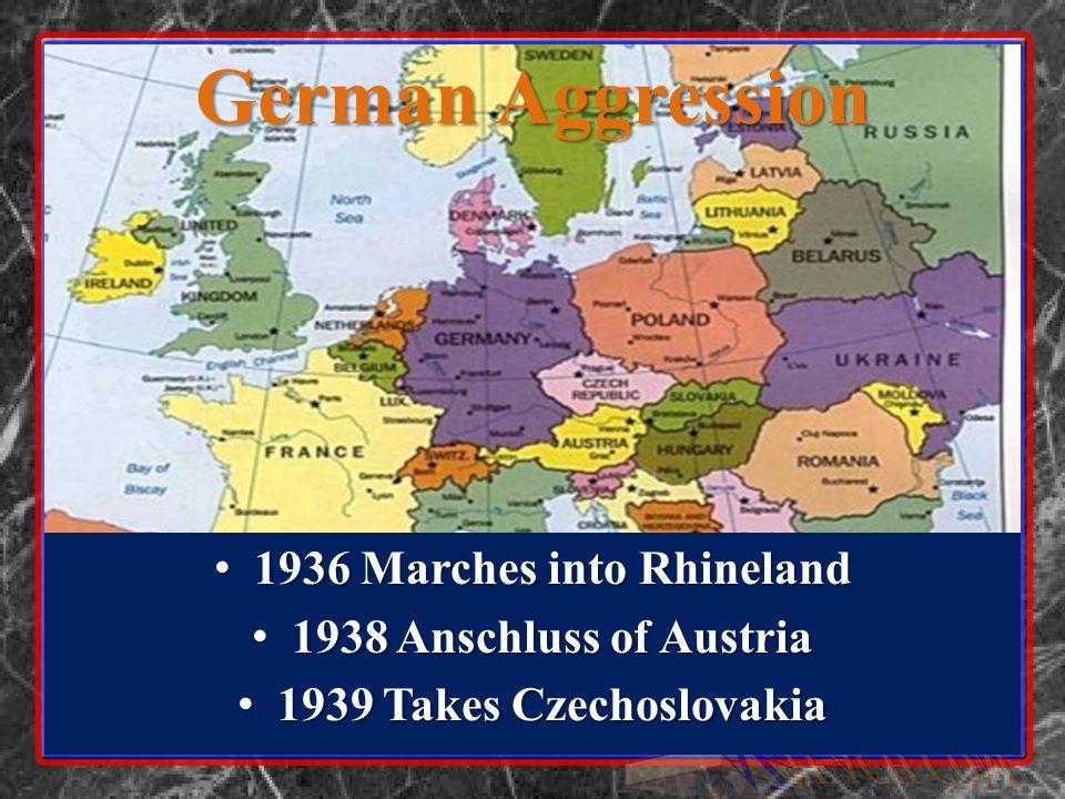 1936 Marches into Rhineland